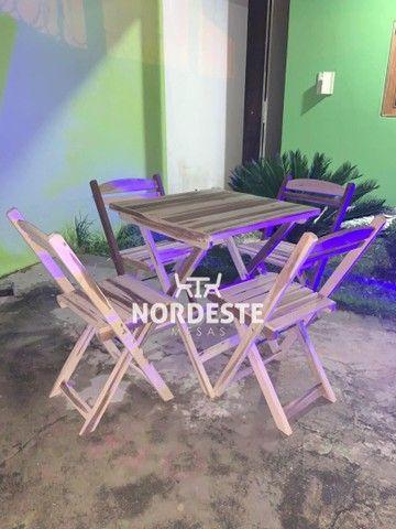 Mesa cadeira de madeira - Foto 3