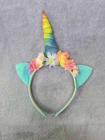 fantasia infantil com arco de unicórnio   - Foto 4