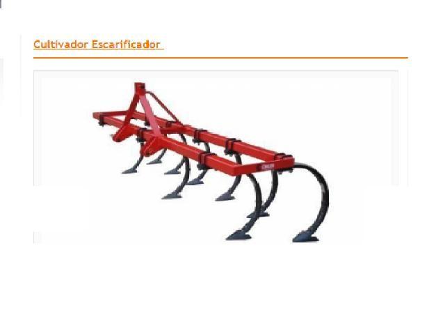 Cultivador escarificador - usado 8 linhas - conservado