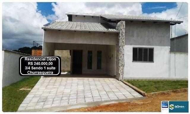 Casa | Condomínio fechado - Residencial Dijon - 3/4 - Churrasqueira- Anápolis (GO)