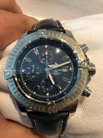 9c2c373d215 Relógio Breitling A13370 Super Avenger Chronograph Autêntico ...