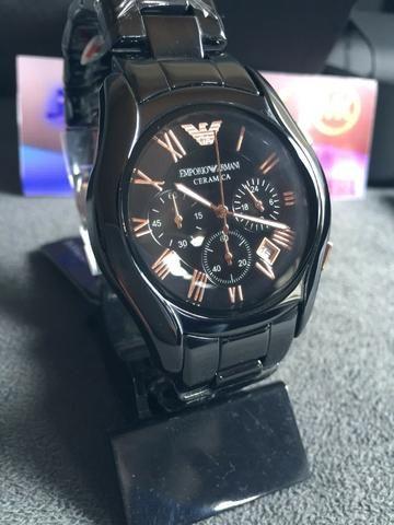 093e3a01bee Relógio Armani Cronógrafo Cerâmica Premium A.A.A - Bijouterias ...