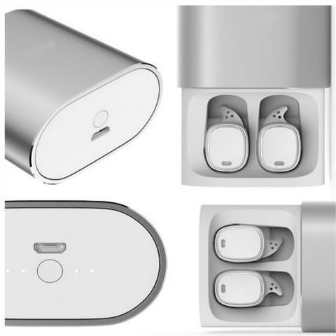 Fone de ouvido Bluetooth Earphone QCY-T1 Pro branco