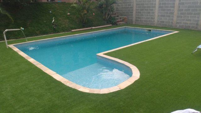 Grama Sintética Ideal Garden 20mm Bicolor de Jardim - Foto 3