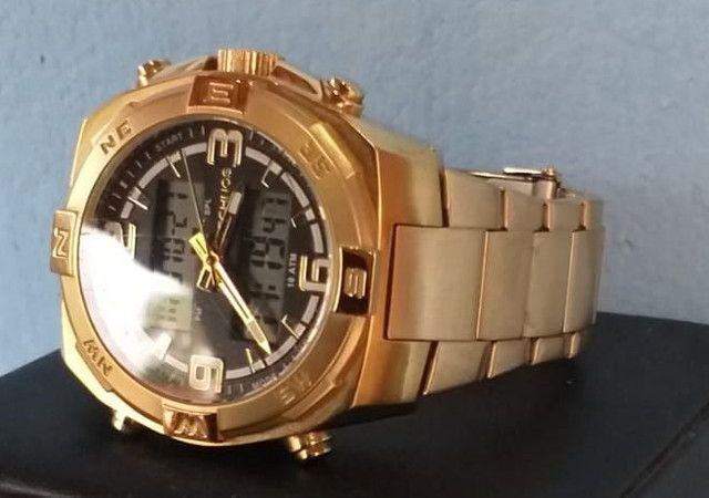 Relógio de ouro original da Technos.