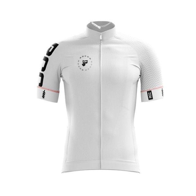 Conjunto ciclismo branco masculino bretelle + camisa