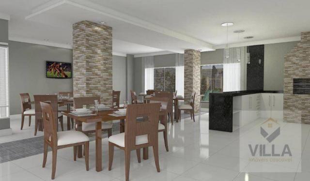 Apartamento com 2 dormitórios à venda, por R$ 355.886 - Centro - Cascavel/PR - Foto 5