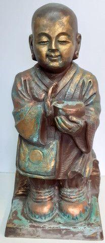 Estatueta Monge budista- Jardim externo - Foto 5