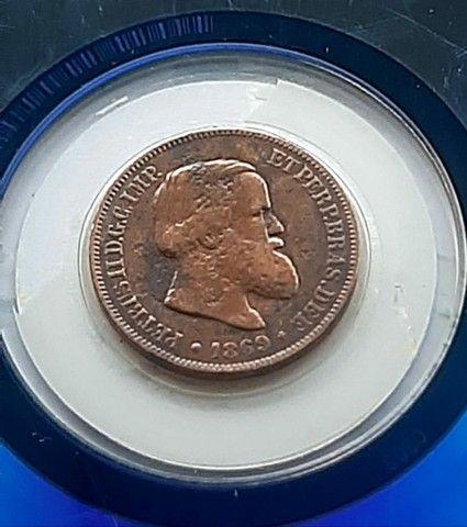 Moeda de 10 Reis de 1869