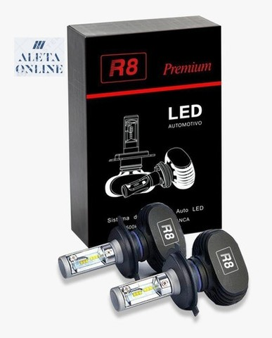 Kit Lâmpada LED H7 8000 Lúmens/Par 6000 K