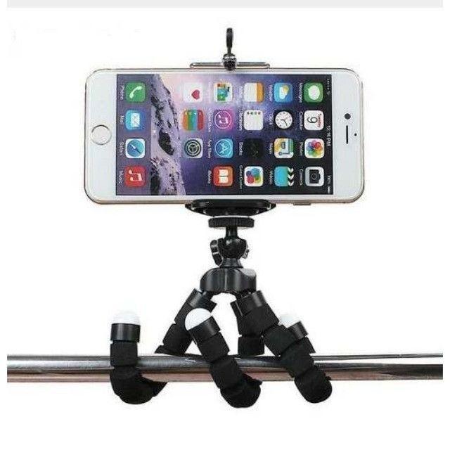 Kit Youtuber Tripé Flexível, Microfone Lapela, Ring Light Selfie. Brinde: Socket Pocket - Foto 6