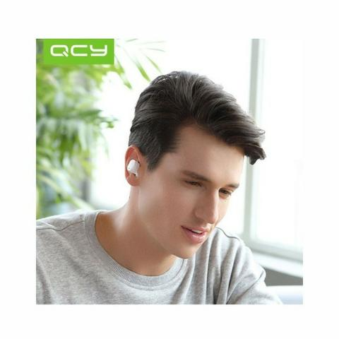 Fone de ouvido Bluetooth Earphone QCY-T1 Pro branco - Foto 4