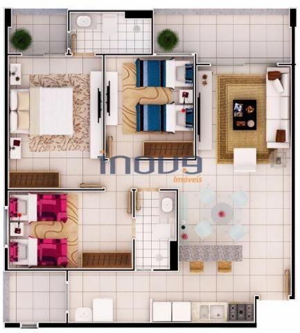 Apartamento com 3 dormitórios à venda, 78 m² por R$ 338.693,81 - Jacarecanga - Fortaleza/C - Foto 14