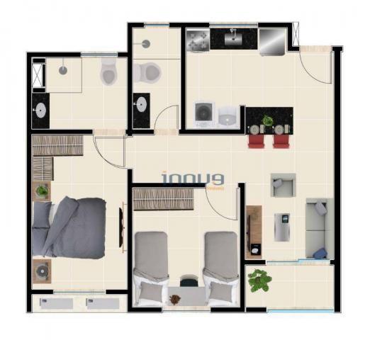 Reserva Natura - Apartamento com 2 dormitórios à venda, 55 m² por R$ 156.350 - Lagoa Redon - Foto 3