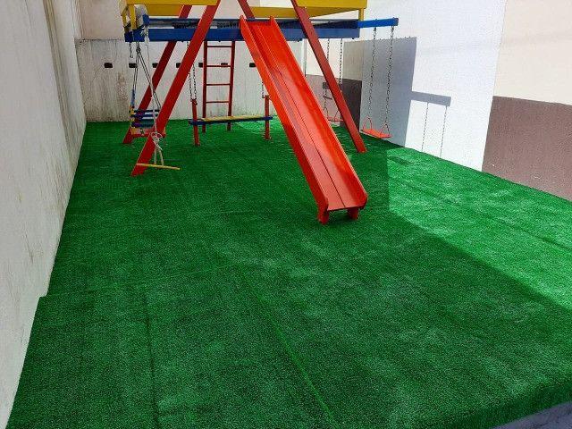Grama Sintética Decorativa Ideal Grass 12mm - Verde