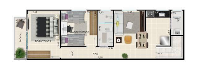 Casa pronta para morar - 2 quartos - no bairro Vila Sônia - Praia Grande, SP - Foto 18
