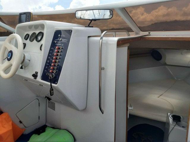 Lancha Cimitarra V8 25 pés Cabinada - Foto 6