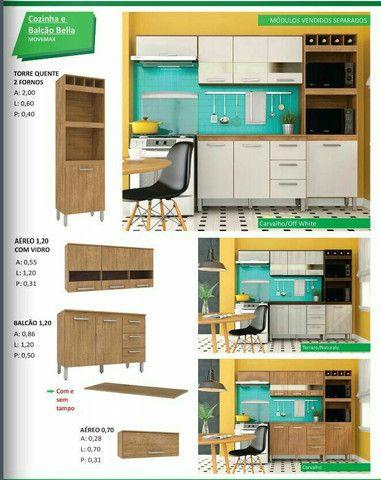 cozinha bella com balcão mega promoção ( entrega e montagem imediata sem taxas )