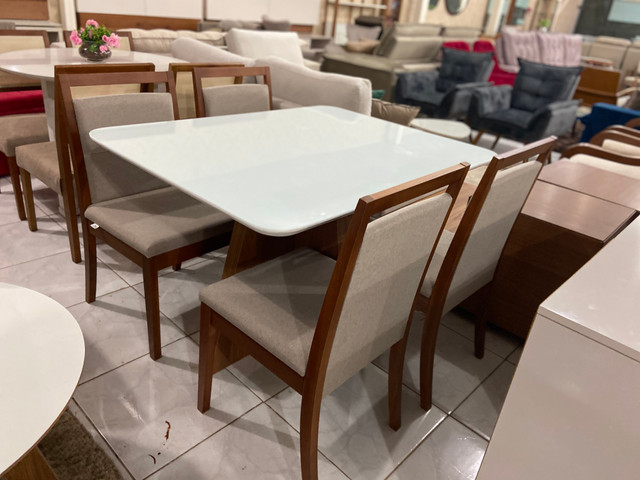 Mesa Santos completa pronta entrega de 4 cadeiras resistente de madeira maciça - Foto 5