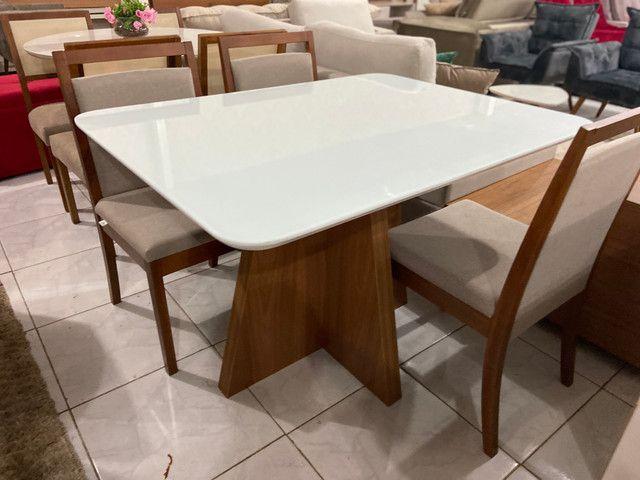 Mesa Santos completa pronta entrega de 4 cadeiras resistente de madeira maciça - Foto 4