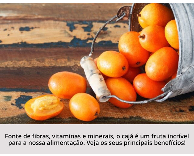 Polpa Cajá - 100% Fruta - 100% Natural