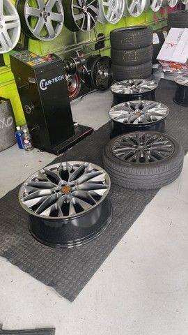 Vendo rodas aro 22 com pneus  - Foto 7
