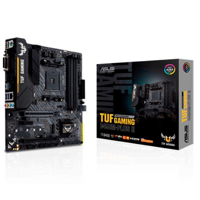 Placa Mãe Asus TUF B450M-Plus II Gaming AM4 - Loja Fgtec Informática