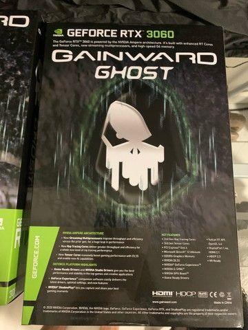 Placa de vídeo  Rtx 3060 oc gainward  12gb lacrada nota fiscal  - Foto 3