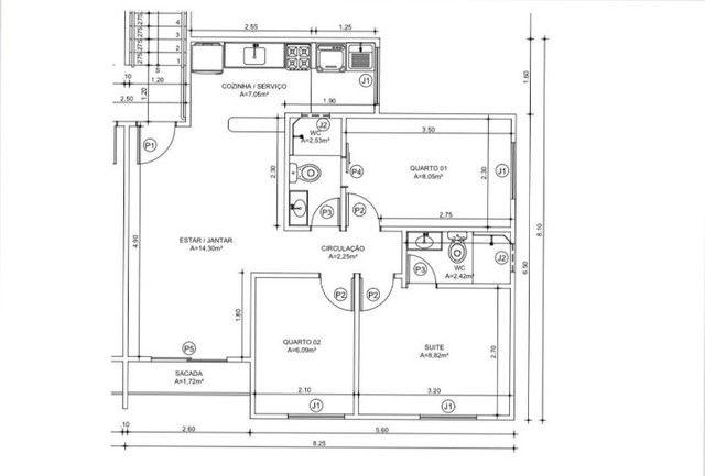 Apartamento para Venda com 03 Quartos sendo 01 Suíte no bairro Aeroporto - Foto 19