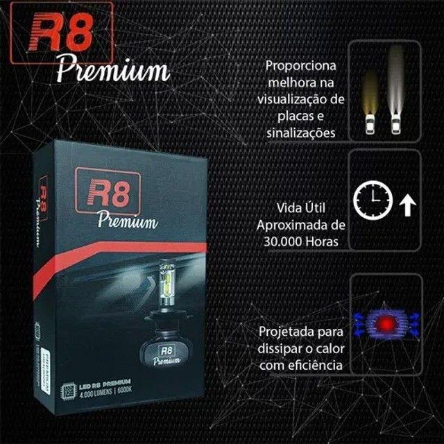 Kit Lâmpada LED H7 8000 Lúmens/Par 6000 K - Foto 2