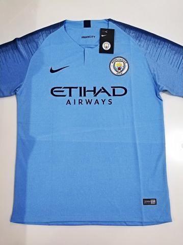 9b24b866cbbec Camisa Manchester City Home 18 19 - Esportes e ginástica - Henrique ...