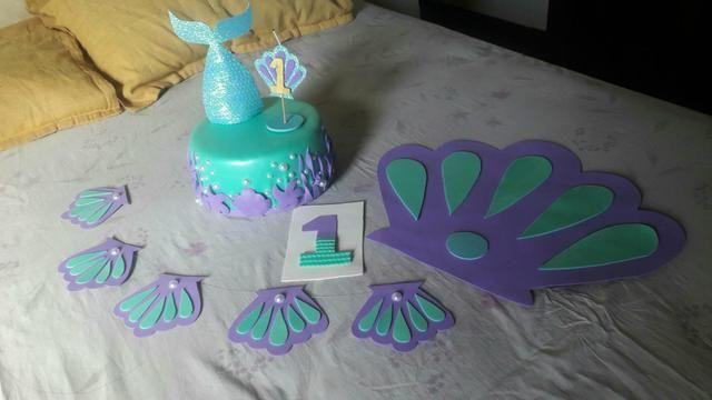 Decoração Festa Sereia Artigos Infantis Jardim Das Indústrias
