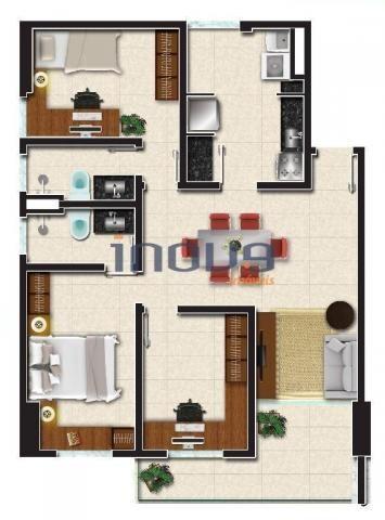 Apartamento à venda, 56 m² por R$ 302.683,73 - Jacarecanga - Fortaleza/CE - Foto 14