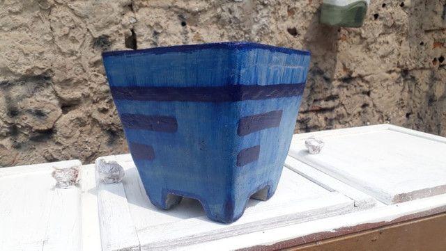 Vaso de cimento decorado - Foto 3
