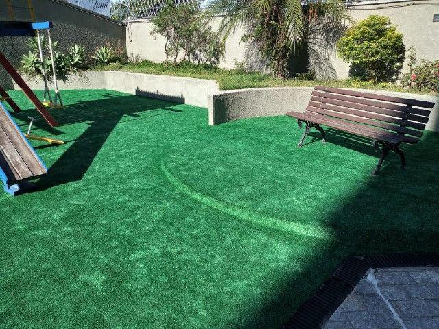 Grama Sintética Decorativa Ideal Grass 12mm - Verde - Foto 4