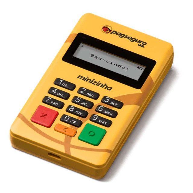 Minizinha PagSeguro Leitor de Cartão de Débito e Crédito Bluetooth