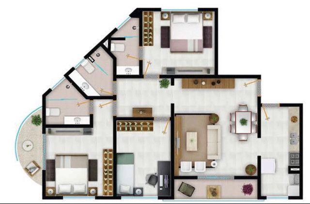 Vendo apartamento jundiai px ao sesc anapolis go - Foto 11