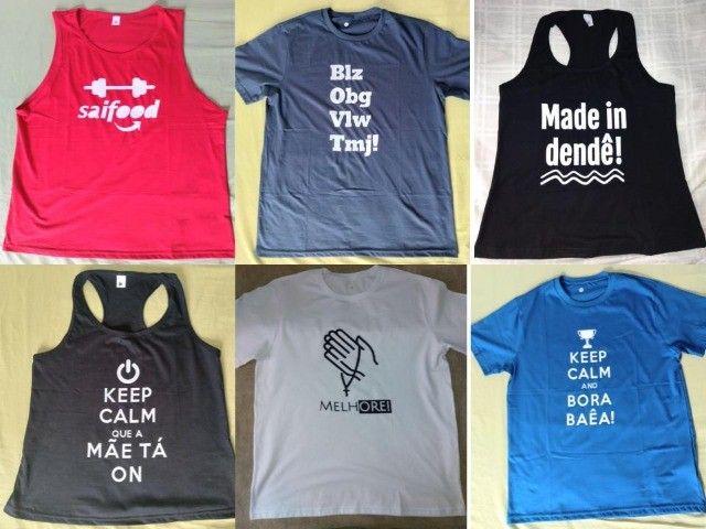 Camisas, camisetas e baby looks de malha de algodão de alta qualidade