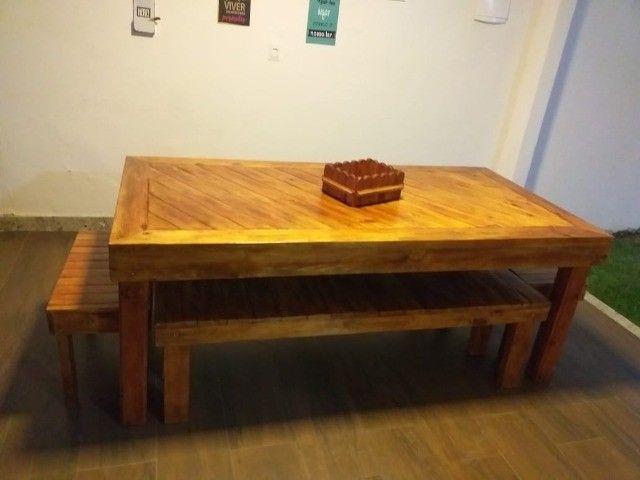 Madeira Maciça - Mesas Rústicas Produzidas sob Medida - Foto 4
