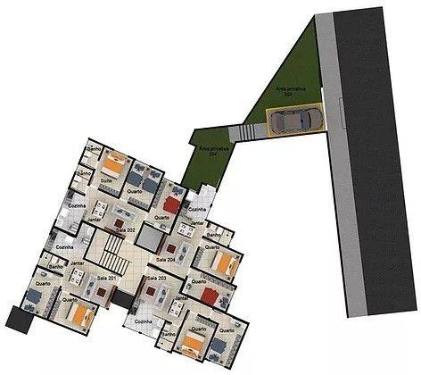 Apartamento à venda com 2 dormitórios em Caiçara, Belo horizonte cod:6237 - Foto 5