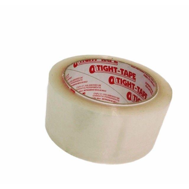 Fita Adesiva Transparente Tight Tape 48mmx100m - Cx 80 unidades - Foto 5