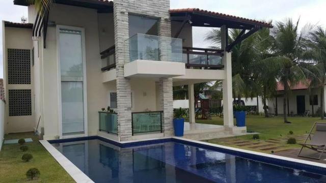 Casa de Luxo 420 m², 6 Suítes, Varanda, Piscina - Serrambi, PE