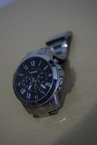 531b8345719 Relógio Fossil Masculino Prata Analógico FS4736 (Funcionando perfeitamente)