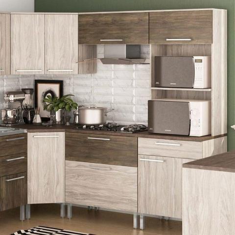 Cozinha de Canto 7 peças Monto e Instalo - Foto 3