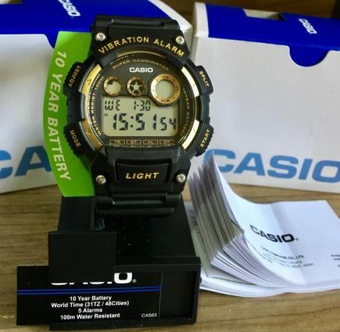a0f3d9a5f81 Relógio Digital Casio Masculino Vibration Alarm Novo Original (Aceito  Cartão)