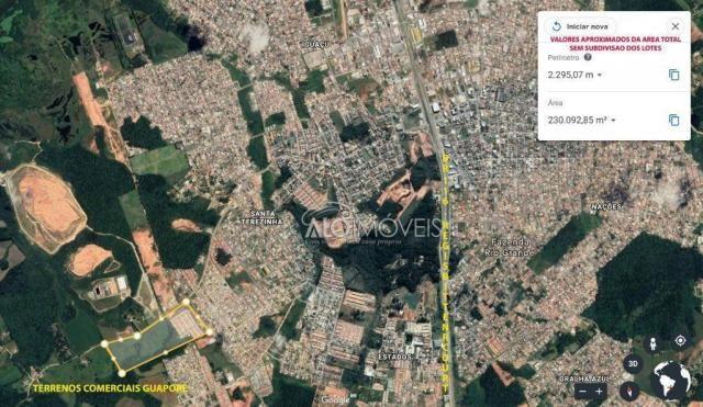 Terreno à venda, 3875 m² por r$ 412.725 - estados - fazenda rio grande/pr