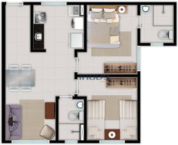 Apartamento com 2 dormitórios à venda, 44 m² por R$ 124.990,00 - Centro - Caucaia/CE - Foto 12