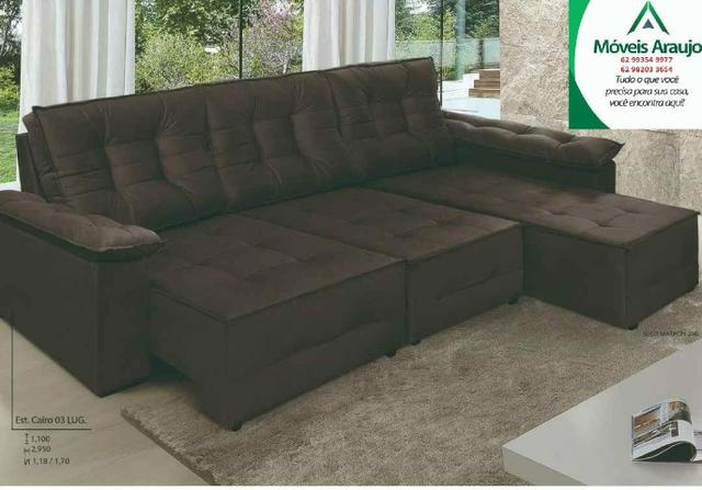 R$ 2.350 Sofa cairo 3 lugares *