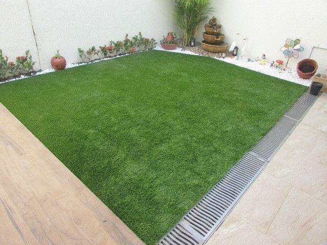 Grama Sintética Ideal Garden 20mm Bicolor de Jardim - Foto 6