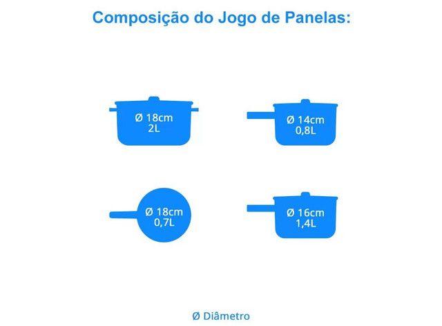 Jogo de Panelas Antiaderente Tramontina - 4 Peças  - Foto 4